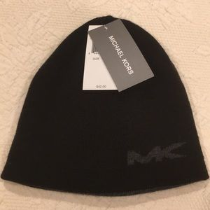 Michael Kors reversible beanie black/charcoal NWT